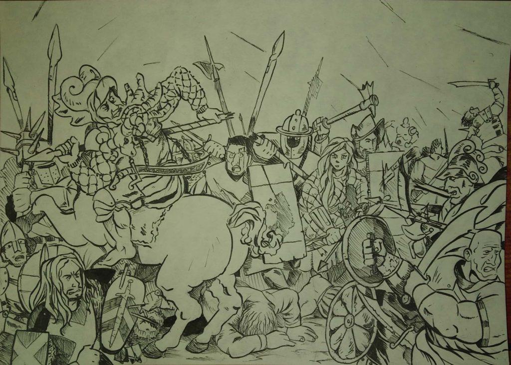 Arte LARP en España Hieronymus Feria del Dragón Batalla de Anghiari Lágrimas de la Tormenta rol en vivo Midgard Douglas el Despiadado
